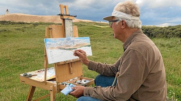 John Kristensen maler fyret