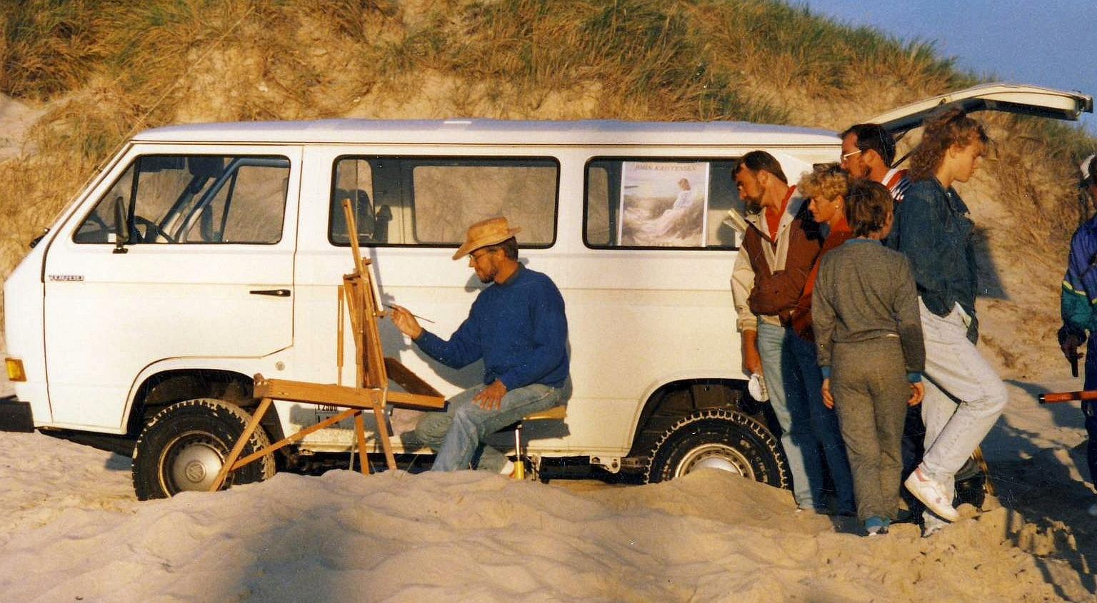 John Kristensen som ung maler