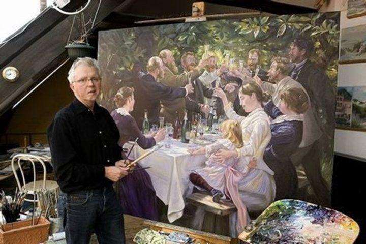 John Kristensen maler Hip Hip Hurra