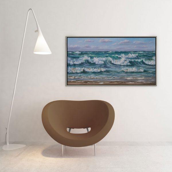 Bølger - print I miljø