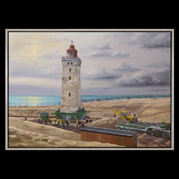 Maleri af Rubjerg Knude Fyr flytter